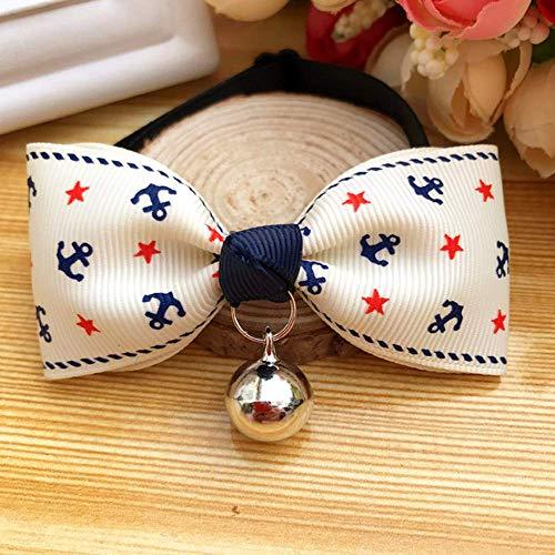 (Yevison Dog Cat Bow Tie British Style Gentleman Cat Bell Bow Puppies Puppies Demi Collar Keji Jewelry)