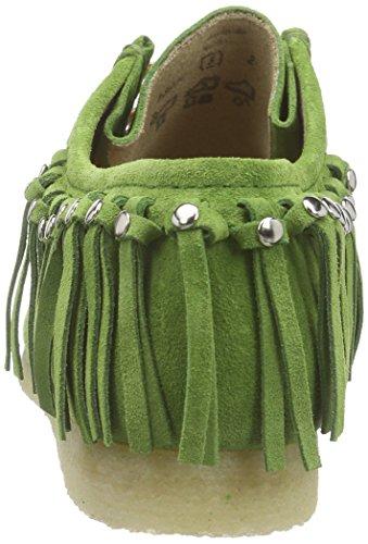 Sioux Grashopper-D-161-03, Mocasines para Mujer Verde (grass)