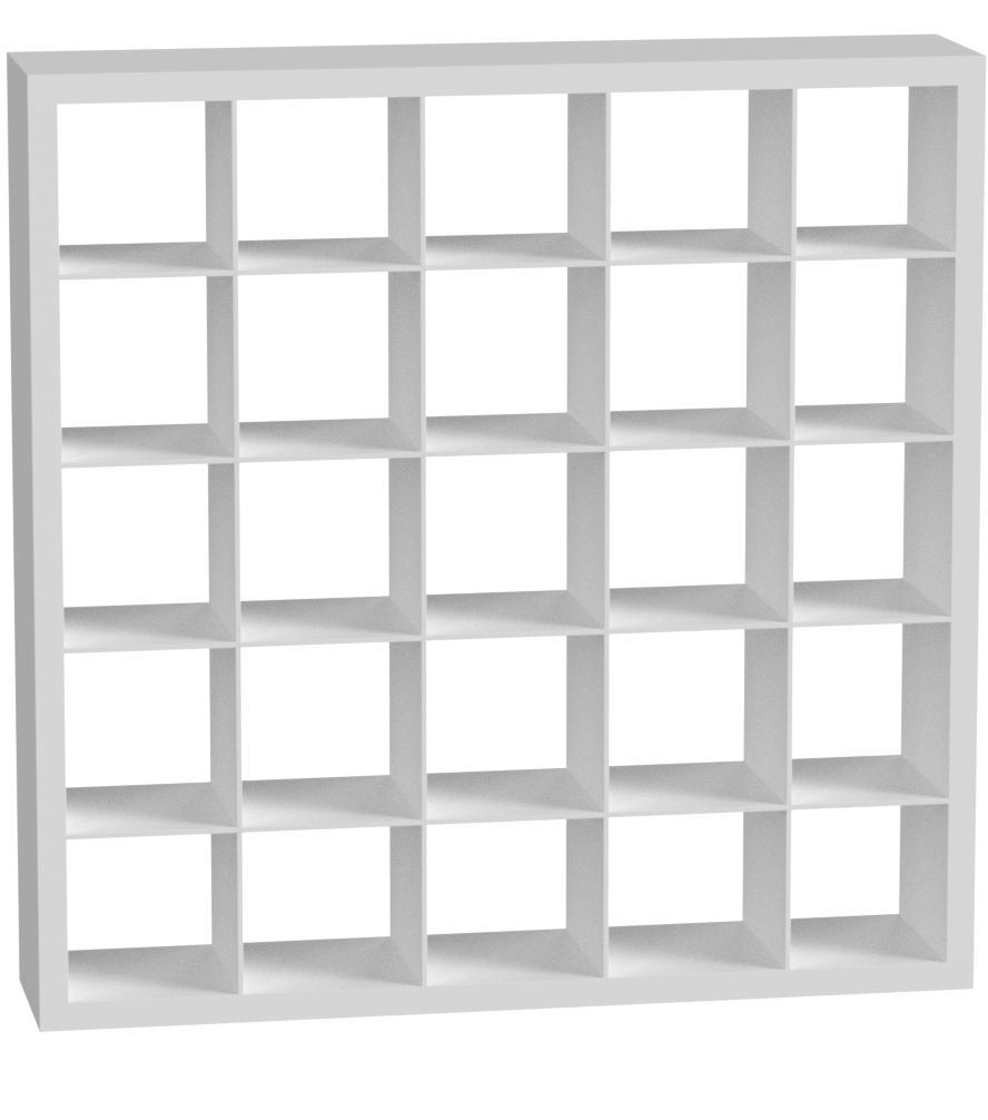 IKEA Kallax - Estantería de almacenamiento (5 x 5 cm), color blanco