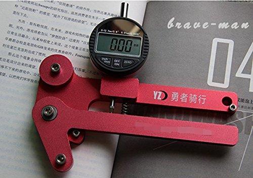 Bicycle bike tools, mountain bike steel wire Spoke tension meter, Adjusting ring tools (Red)
