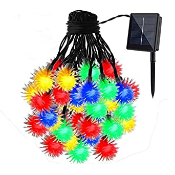 Solar LED Lights Outdoor Solar-Powered LED Striping Strips Powered by Solar Decorative Christmas String Lights 23ft 8 Modes Outdoor String Lights Home Garden Party Holiday Decor Heavy-duty Outdoor