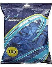 Balloon Set, 100 Pcs, Size 12 - Blue