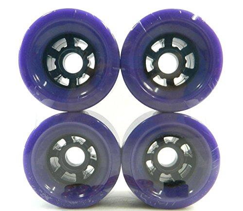 - 83mm Pro Longboard Cruiser Wheels Flywheels (Purple)