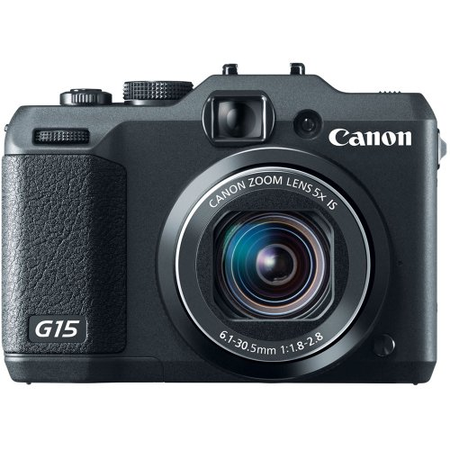 Canon PowerShot G15 12MP Digital Camera with 3-Inch LCD (Black) (OLD MODEL) (Canon G15 Camera)