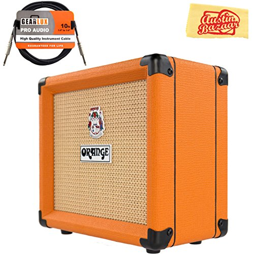 Orange Crush 12 Guitar Combo Amplifier Bundle with Instrument Cable and Austin Bazaar Polishing Cloth by Orange