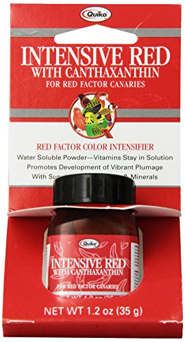 Quiko Intensive Red with Canthaxanthin for Red-Factor Canaries, Vitamin & Mineral Supplement, Red-Factor Color Intensifier, 1.2 Ounce