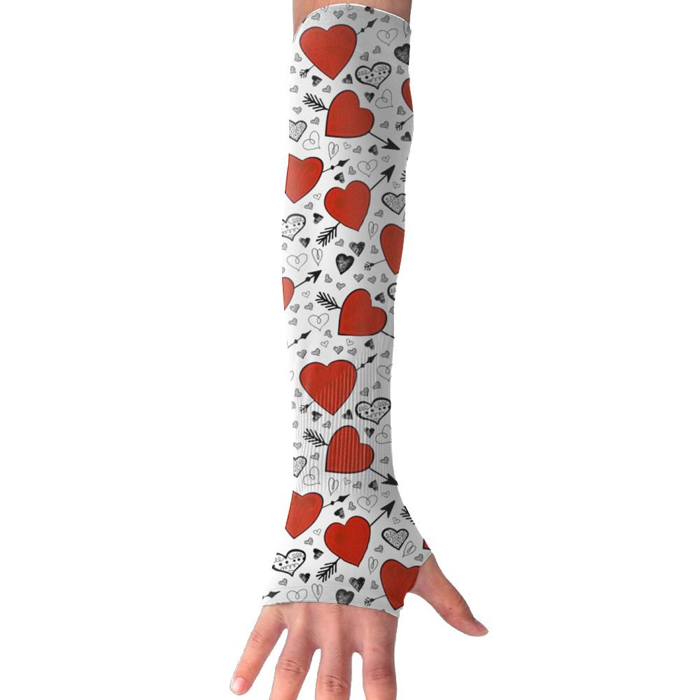 Unisex Arrows Heart Sense Ice Outdoor Travel Arm Warmer Long Sleeves Glove by Suining (Image #1)
