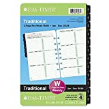 "Day-Timer 2019 Weekly Planner Refill, 5-1/2"" x 8-1/2"", Desk Size 4, Loose Leaf, Two Pages Per Week, Classic (91010)"