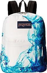 JanSport Superbreak Backpack - Multi/Blue Drip Dye / 16.7H x 13W x 8.5D