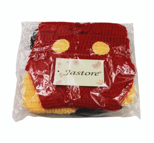Jastore Photography Prop Baby Costume Cute Crochet Knitted Hat Cap Girl Boy Diaper Shoes Mouse by Jastore (Image #3)