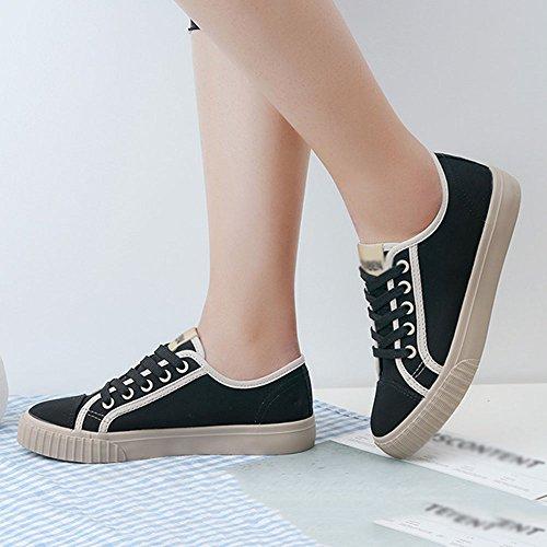 Tamaño Shoes EU36 Versión Pink 5 Pink CN35 Negro Bottom Casual Feifei Color mujer Coreano Retro Zapatos Flat de UK3 Wqvg6xtO