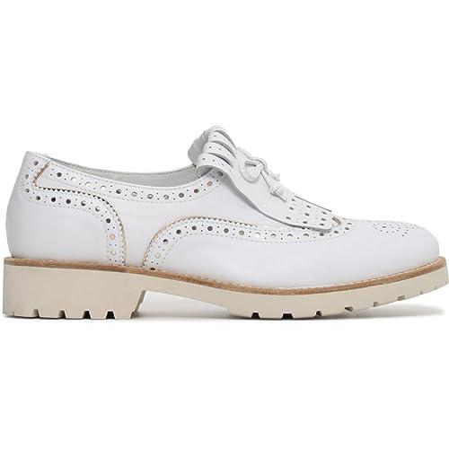 Nero Giardini donna inglesine bianche P805030D scarpe primavera estate 2018