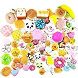 Toys : Random 30pcs Jumbo Medium Mini Soft Squishy Cake/Panda/Bread/Buns Phone Straps by Huastyle