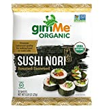 gimMe Snacks Organic Roasted Seaweed Sushi Nori, 0.81 Ounce