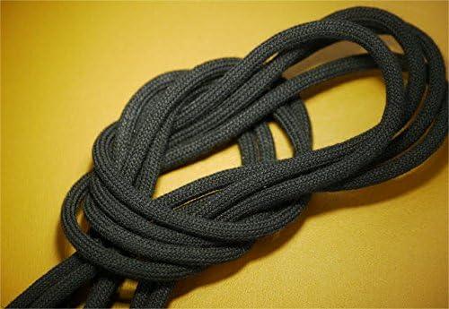 靴ひも.com ガスひも・コットン・丸・ブラック・110cm-140cm