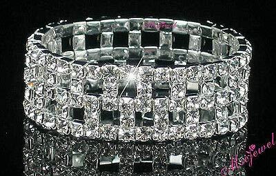 FidgetFidget New Lot Rows Hollow Fancy Stretchy More Styles Crystal Rhinestone Bracelets 12 Pcs #13
