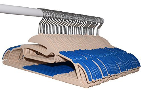 Accessorizing Closet Hangers (50 Pack). Hang Your Coats, Dresses, Sweaters, Shirts, Pants, Ties, or Scarfs