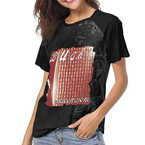 Mabb Bush Sixteen Stone Womens Short Sleeve Raglan Baseball Tshirt Black L