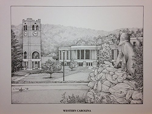 Western Carolina University - Bell Tower 11''x14'' pen and ink print by Campus Scenes (Image #9)
