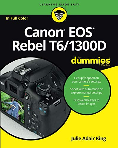 Your Canon EOS Rebel T6/1300D photography class—in a book! The Canon EOS Rebel T6/1300D offers DLSR users a tool to take photographs truly worth bragging about. This book gives you the pointers and easy-to-follow instruction you need to make sense of...