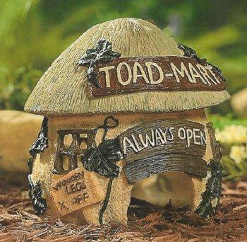 garden toad house mart yard decor always open - Open Garden Decor