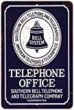 Bell System Telephone Office Vintage Look Reproduction 8 x 12 Sign 8120492