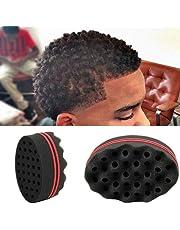 Display08 - Cepillo de esponja mágica para cerradura de bobina Afro Curl Barber Tool