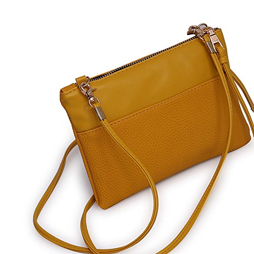 Cross Tote Fashion Bag Bag Classic Ladies Gift for Bag Casual Lovely Women Large Bag Small Girls New BESTOPPEN Bag Womens Purse Leather Look Handbag Body Messenger Vintage Brown Yellow Bag Retro Shoulder Rg4x5acq