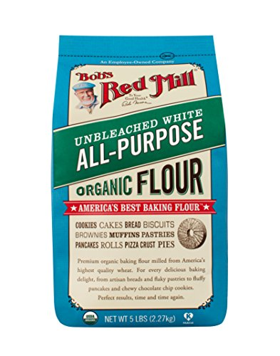 Bob's Red Mill Organic Unbleached White All-Purpose Flour, 5-pound