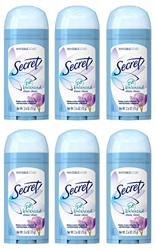 Secret Original Sheer Clean Scent Women's Invisible Solid Ph Balanced Antiperspirant & Deodorant 2.6 Oz (Pack of 6) - Invisible Solid Sheer Powder