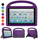 All-New Amazon Fire HD 10 Tablet Case 2017, LTROP Portable Shockproof Kids Case for Fire HD 10 2017 Tablet (7th Generation, 2017 Release), Purple