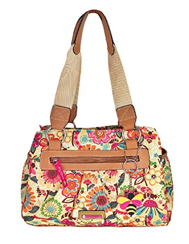 Lily Bloom Landon Triple Section Satchel, Busy Bee, Eco Friendly by Lily Bloom