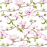 Jillson Roberts 6-Roll Count All-Occasion Floral Gift Wrap Available in 11 Different Designs, Magnolia Blossom