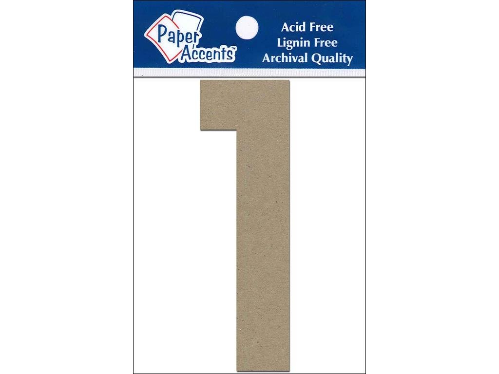 Accent Design Paper Accents ADP49317 4 1 2 Piece Natural Chipboard Chip Numbers