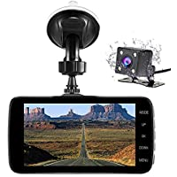 Nesolo Full HD 1080P Car Dash Cam 170° Wide Angle 4 LCD Dashboard Camera DVR Video Recorder Dual Lens Front+Rear with HDR Night Vision,Loop Recording,Parking Mode,G-Sensor