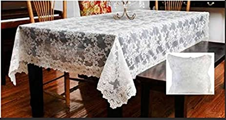 Bon Alencon French Bridal Lace Tablecloth   144 Inch