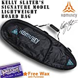 Kelly Slater's Signature Model Komuntiy Project Lightweight Traveler Triple or Quad Board Bag (Tropical Wax, 6'3'')