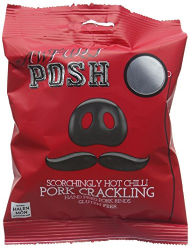 Awfully Posh Scorchingly Hot Chilli Pork Crackling 40 g (Pack of 12)