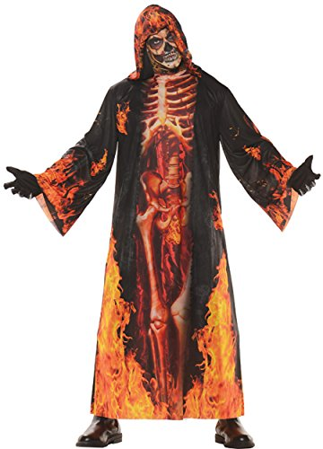 UHC Men's Underworld Hell Robe Horror Skeleton Adult Outfit Halloween Costume, OS