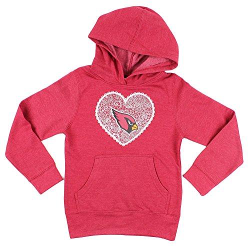 - Outerstuff Arizona Cardinals NFL Big Girls Heart Fleece Hoodie, Red