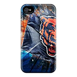 New Tpu Hard Case Premium Iphone 4/4s Skin Case Cover(chicago Bears)