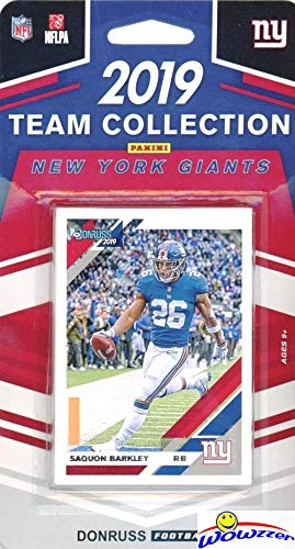 detailed look 664f3 e8cf8 New York Giants 2019 Donruss NFL Football Limited Edition 11 Card Complete  Factory Sealed Team Set with Daniel Jones Rookie, Eli Manning, Saquon ...