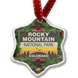 Christmas Ornament National Park Rocky Mountain - Neonblond