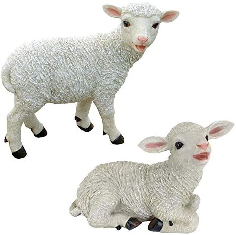 Design Toscano Yorkshire Lamb Garden Farm Animal Statue