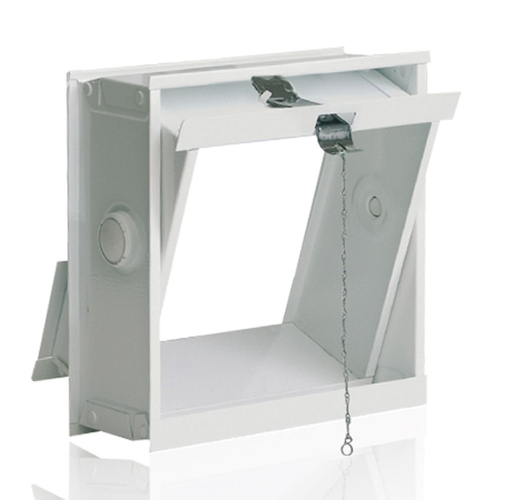 Ventana oscilobatiente: para el montaje en la pared de bloques de vidrio para 1 bloque de vidrio 19x19x8 cm Fuchs Design