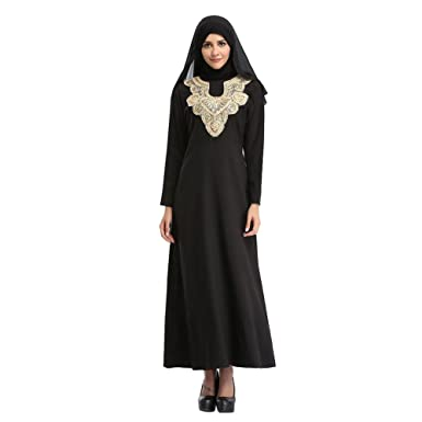 Haodasi Islamic Muslim Malaysia Long Sleeve Kaftan Embroidery Dubai Church Prayer Dress Turkish Apparel Arabia Abaya
