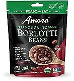 Amore Ready-To-Eat Organic Beans, 4.9 Oz Bag, 8 Pack (71081), Borlotti Beans, 39.2 Oz