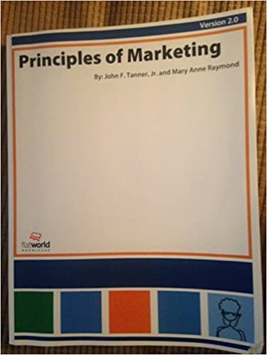 Book Principles of Marketing (B&W) by Jeff Tanner (2010-08-02)