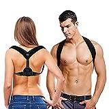 Coipur Back Posture Corrector for Women & Men,Posture Trainer,Back Brace for Upper Back Shoulder Clavicle Support for Back Pain Relief, Adjustable Straps & Wearable Under Clothes (Black)