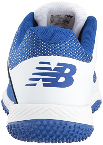 Ny Balans Mens T4040v4 Turf Baseball Skor Royal / Vit